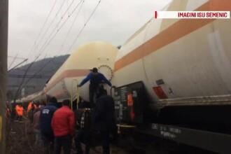 Un tren de marfă care transporta gaze lichefiate şi hidrocarburi a deraiat