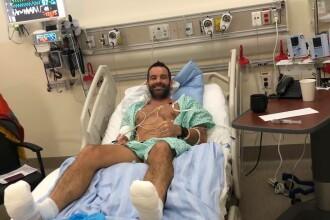 """Mesajul lui Tibi Ușeriu după ce a ajuns la spital cu degerături: """"Bineînțeles că merită"""""""