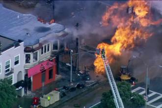 Explozie în San Francisco. Câțiva muncitori au tăiat din greșeală o conductă de gaz