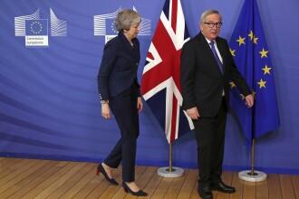 """Noi negocieri May - Juncker privind Brexit. """"O retragere ordonată din UE"""""""