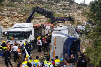 Grav accident pe o autostradă din Israel. Sunt 2 morți și 41 de răniți. VIDEO