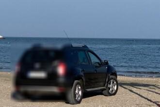 Amendă uriașă pentru o tânără din București care a intrat cu Dusterul pe plajă