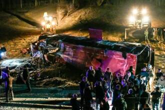 Tragedie pe șosea în Macedonia de Nord. 13 oameni au murit într-un autocar
