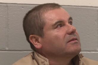 Imagini în premieră cu El Chapo în lacrimi și speriat de ce îl așteaptă în SUA. VIDEO