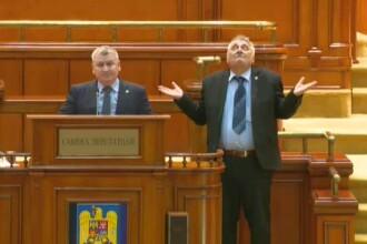 Deputatul PSD Bacalbașa s-a strâmbat în timp ce un liberal vorbea în Parlament. VIDEO