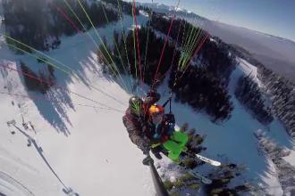 Sportul care atrage turiștii la munte, la fel ca schiatul. Cât costă un zbor cu parapanta