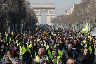 """Peste 41.000 de """"veste galbene"""" în stradă, în Franța. Al 14-lea weekend de proteste"""