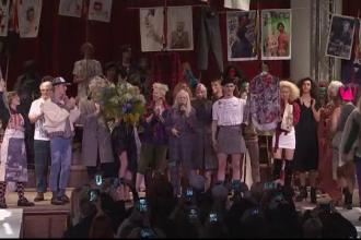 Politica a luat locul modei la prezentarea colecției lui Vivienne Westwood, la Londra