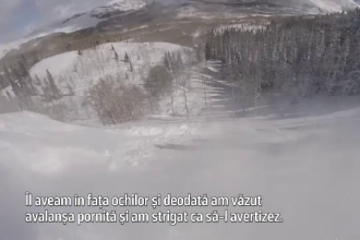 """Schior salvat dintr-o avalanșă după doar 75 de secunde: """"L-am lovit cu lopata în cască"""""""