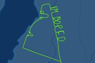 Mesajul lăsat pe cer de un pilot de avion, supărat