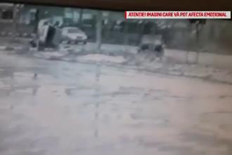 Accident şocant în Neamţ. O maşină cu 4 persoane în ea a zburat de pe şosea