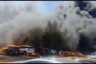 Dezastru la Aero Show India. Două avioane s-au ciocnit, 300 de maşini au ars în parcare
