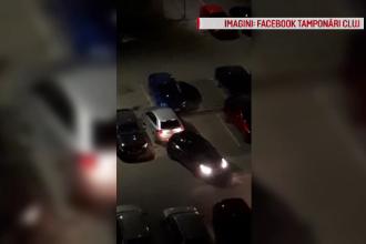 Soluţia găsită de un şofer beat din Cluj când şi-a găsit locul de parcare ocupat