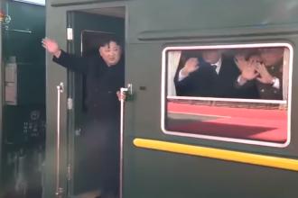 Primele imagini cu Kim Jong-un din călătoria de 47 de ore cu trenul către Vietnam. VIDEO