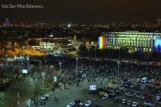 Protest amplu în Piața Victoriei: 10.000 de persoane au scandat împotriva Guvernului. FOTO
