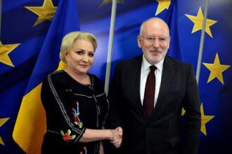 """Dăncilă a promis că va publica o fotografie cu Timmermans, care arată """"relația adevărată"""""""