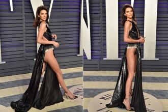 Kendall Jenner, pe jumătate goală după Oscaruri. Ce au surprins fotografii