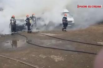 Cum au reuşit angajaţii unei fabrici din Oradea să dea foc unei maşini parcate în curte
