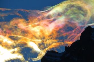Fenomen uimitor, pozat în România. Ce a apărut pe cer, în munții Bucegi. VIDEO
