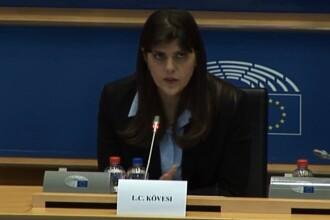 """Kovesi, în PE: """"Știu că ați fost expuși la informații negative despre mine. Nu am nimic de ascuns"""""""