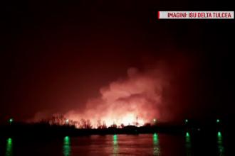 Delta Dunării, mistuită de incendii puternice. Flăcările au înghițit mai bine de 2000 de hectare