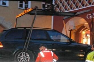 Ce mașină aveau patru români prinși la furat dintr-un magazin în Germania