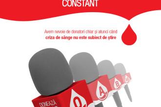 Microfoanele jurnaliștilor PRO TV devin voce pentru nevoia de sânge în România