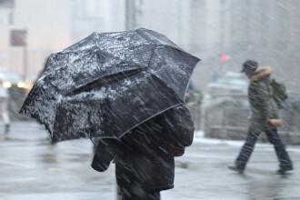 Vreme schimbătoare în toată țara. Zonele în care vom avea lapoviță și ninsoare