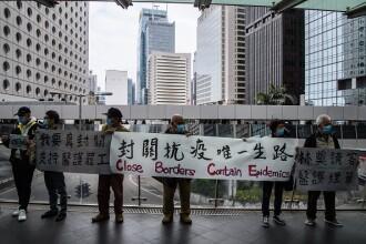 Peste 1.000 de medici din Hong Kong, în grevă pentru închiderea granițelor cu China