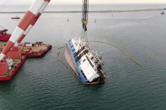 Eșec în operațiunea de ridicare a navei cu oi moarte din portul Midia. S-a deschis anchetă