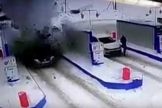 VIDEO. Momentul în care un Logan explodează într-o stație de alimentare