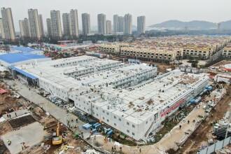 Imagini din spitalul construit în 10 zile în China. Primii pacienți au fost internați