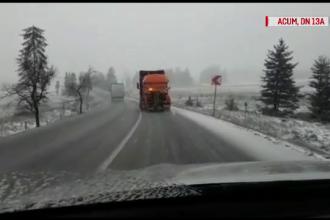 Iarna se întoarce în forţă. Coduri galbene şi portocalii de ninsori şi viscol în toată România