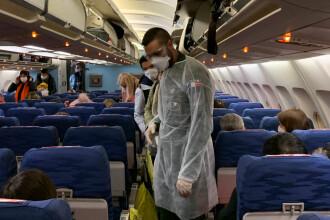 Un avion din Canada a făcut cale întoarsă, după ce un pasager a glumit că are coronavirus