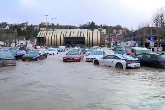 Inundații grave în Luxemburg. Pompierii, chemați de 320 de ori în câteva ore