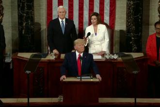 """Discursul despre """"Starea Națiunii"""", ținut de Trump, marcat de conflictul cu Nancy Pelosi"""