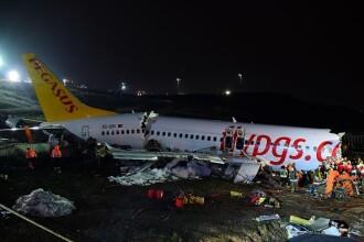 Avionul ieșit de pe pistă în Istanbul s-a rupt în trei bucăți. Cel puțin 3 morți și 170 răniți