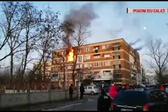 Explozie puternică urmată de incendiu într-un bloc din Galați. Totul a pornit de la o butelie