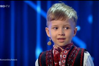 Românii au talent. Un copil de 4 ani din Chișinău a ridicat toată sala în picioare