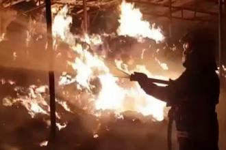 Incendiu violent izbucnit în Tulcea. Pompierii s-au chinuit 12 ore să stingă flăcările imense