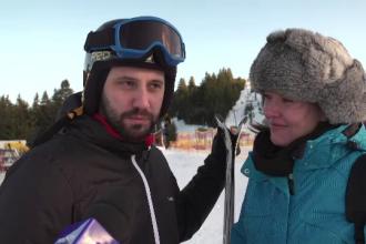 """Au plecat împreună de Ziua Îndrăgostiților, dar se distrează separat: """"Soţia nu ştie să schieze"""""""