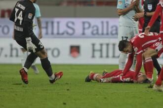 Care este starea dinamovistului Perovic, luat cu ambulanța de la meciul cu FCSB