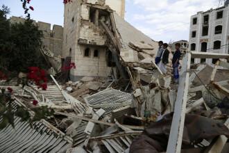 Răzbunarea saudiţilor, după ce rebelii le-au doborât un avion. Cel puţin 31 de civili, ucişi