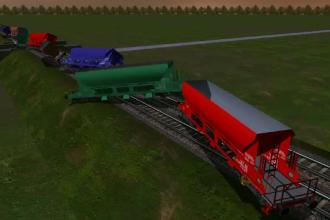 ANIMAȚIE GRAFICĂ. Cum a deraiat trenul plin cu marfă în apropiere de Caracal
