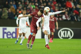 CFR Cluj - Sevilla, 1-1, în 16-imile Europa League. Meci onorabil al campioanei României
