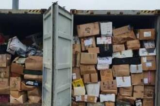 Containerele pline cu deșeuri care au ajuns în Portul Constanța Sud Agigea, returnate expeditorului