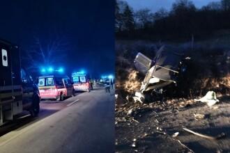 Trei morți într-un accident grav, în Sibiu, produs de un șofer de 19 ani