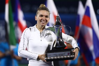 Simona Halep a câștigat finala de la Dubai, după un meci fabulos contra Elenei Rybakina