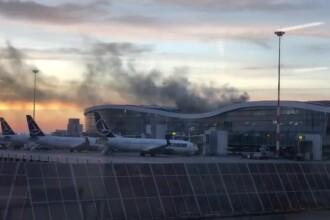 Incendiu în terminalul plecări din Aeroportul Otopeni. Martorii se plâng de dezorganizare