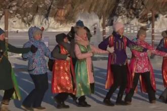 Anul Nou budist, sărbătorit pe gheața lacului Baikal, în Rusia